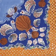 Raoul Dufy (French, 1877-1953), Composition aux coquillages [Composition with shells] (textile design for Bianchini-Férier), 1927. Gouache, watercolour and pencil on paper, 41 x 45.8 cm.