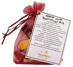 New Job Survival Kit Gift (Great novelty gift or alternative to a card)