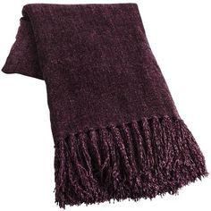 "This looks like a real ""Aubergine"" in person.  Matches other colors perfectly.  Really warm and soft.  Chenille Throw - Plum"