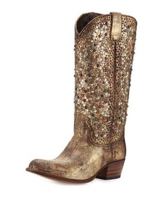 Deborah Studded Tall Western Boot by Frye at Neiman Marcus.