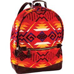 Pendleton Coyote Butte Scarlet Jacquard Backpack $178.99 #backpack #travel #pattern