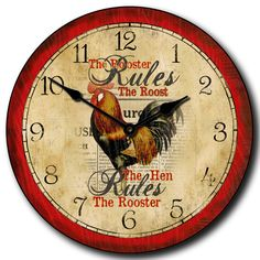 28 Best Rooster Clocks Images Rooster Clock Kitchen Clocks