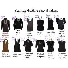 Choosing necklaces for necklines  www.liasophia.com/mrsnicolejohnson