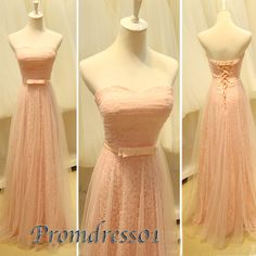 2015 cute sweetheart strapless a-line modest pink lace chiffon long prom dress for teens, homecoming dress, ball gown, evening dress, grad dress, plus size dresses #promdress #wedding Prom Dresses For Teens, Prom Dresses 2016, Pink Prom Dresses, Strapless Dress Formal, Dress Prom, Grad Dresses, Evening Dresses, Formal Dresses, Lace Dresses