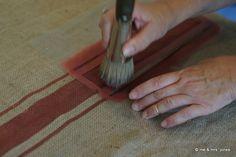 debbie creates a striped feed-sack look