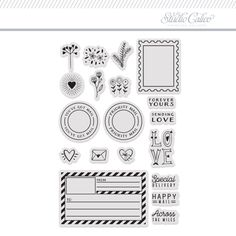 Stamp Set: 4x6 Postage by One Little Bird at Studio Calico