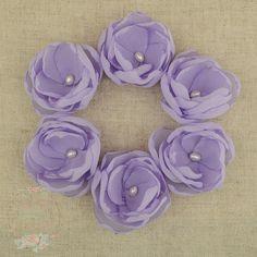 Lilac Mauve Purple Chiffon Freshwater Pearl Set of by Lillyanddot