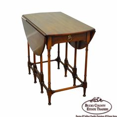 Statton Private Collection Solid Cherry Drop Leaf Gate Leg Side Table For Sale Traditional Decor, Traditional Kitchen, Traditional House, Side Tables For Sale, Small Tables, Chinoiserie, Baroque, Cherry Drops, Drafting Desk