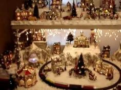 This my favorite!!    Liz's Christmas Village Display 2011