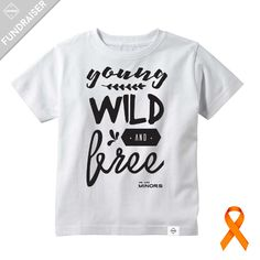 """""""I hate cancer. It makes me ugly.""""Together we can help Addy beat cancer! We are Minors will donate 50% of our """"Young, Wild and Free Tee"""" proceeds to four year old Addison, who was diagnosed with Leukemia in late June. No parent ever wants to hear that their little one has cancer. We would like to ease the financial stress on their family, so Addy's parents can focus on being by his side during this difficult time.To donate directly, please visit:http:..."""