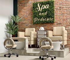 Home Beauty Salon, Beauty Salon Decor, Beauty Salon Design, Home Salon, Spa Room Decor, Beauty Room Decor, Nail Salon Design, Nail Salon Decor, Spa Interior Design