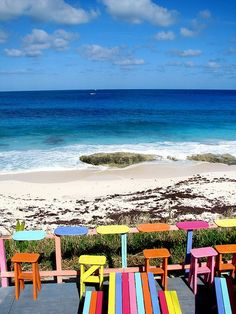 Bahamas Beach Bars: All the Colors of Nippers, Great Guana Cay, Abaco