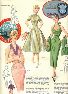 Modes Royale 1954----OOOHHH!!! I LOVED Modes Royale in the 50's....would STILL like to have their Patterens!!!!   ox