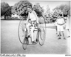 Vintage cycling photo circa 1934 in Toronto, Canada