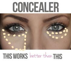 An easy way to look less tired? Use your concealer correctly.#makeup