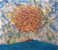 Artist : Rosendo Vega /  Title : Árbol Cósmico / Dimensions : 120 x 140 cms / Technique : Oil Paint on Canvas /  Price : MXN 50,000 / Year : 2016 / Status : Sold