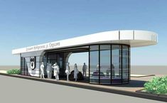 The bus stop we want to make could be this big? Long enough to hold many people. Kiosk, Facade Design, House Design, Sas Entree, Bus Stop Design, Urban Design Concept, Timber Cabin, Bus Shelters, Shelter Design