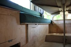 Optimus - Interior Reveal of our 1974 VW Jurgens Campervan (Finally) - 3 Kids, 2 Dogs and 1 Old House 3 Kids, 4 Months, Campervan, Bunk Beds, Vw, Interior, Dogs, Furniture, Home Decor