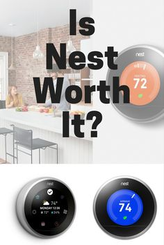 Nest gen is well-known as the most popular and connected smart thermostat. It comes at a high price tag and there are cheaper options like Nest E, so is Nest worth it? Let's weigh the pros and cons of Nest. Sarah Richardson Home, Home Thermostat, Best Home Security Camera, Smart Home Appliances, Best Smart Home, Smart Home Technology, Home Gadgets, Cooking Gadgets, Home Defense
