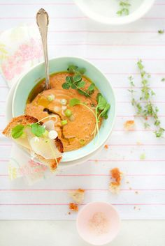 heirloom tomato gazpacho by cannelle-vanille, via Flickr