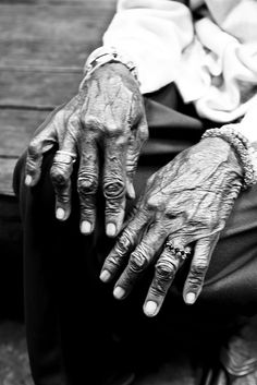 "Elderly woman hands down - Issan, Thailand by Sailing ""Footprints: Real to Reel"" (Ronn ashore), via Flickr"