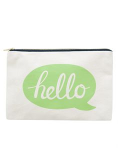 Canvas Pouch - Hello