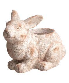 Look at this #zulilyfind! Rabbit Planter #zulilyfinds