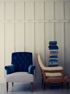 """Why not use different fabrics and prints when you upholster a chair or sofa?"" Source: remodelista. via the improvised life"