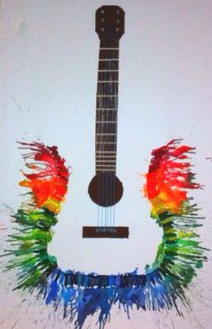Crayon Art Guitar More
