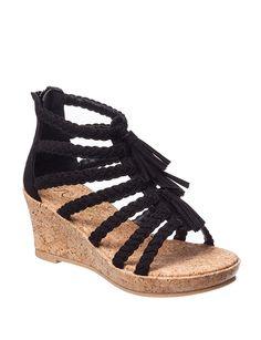 Sugar Pretzel Twist Wedge Sandals- Girls 11-5