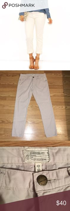 Current/Elliot The Fling Pants Corduroy Stone color pants size 26 length: 26' A Slim version of the classic boyfriend. Cropped and in good condition from smoke free home Current/Elliott Pants Ankle & Cropped