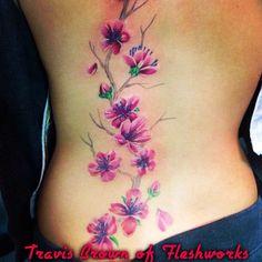 #FleshworksTattooStudio#Olympia#WA#cherryblossoms#tattoos#tattoo#flowertattoo#TravisBrown#Pretty#Girlswithtattoos