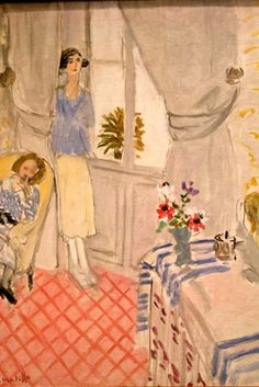 ⊰ Posing with Posies ⊱ paintings & illustrations of women & children with flowers - Matisse, Le boudoir