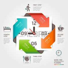 Work time management planning infographics #template