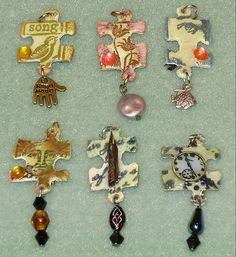 inspiration ~ Jigsaw  charms by trudy w, via Flickr