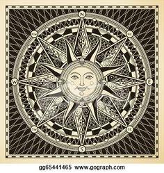 Clip Art Vector - Sun compass. Stock EPS gg65441465 - GoGraph