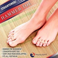 Hammer Toe Straightener Corrector Pads - Gel Toe Separators to Correct Hammer Toes, Ideal Turf Toe Brace & Claw Toe Straightener to Support & Correct Toes for Hammertoe Overlapping Pain Relief Heel Pain, Foot Pain, Turf Toe, Gel Toe Separators, Knock Knees, Hammer Toe, Pain Relief, Remedies, Pairs