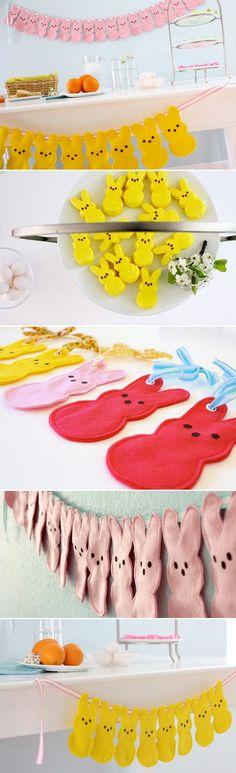 Peep inspired bunny buntings