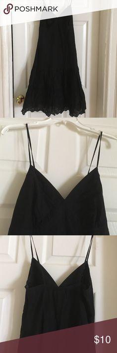 Black Eyelet Detailed GAP Dress Black Eyelet Detailed GAP Dress Gap Dresses