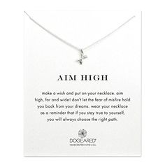 Dogeared Aim High Crossing Arrows Reminder 16 Boxed Necklace sterlingsilver ** Read more  at the image link.