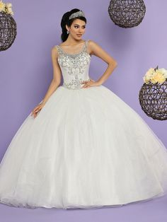 Wedding Dress Simple, Brilliant Tulle & Sequin Tulle Scoop Neckline Floor-length Ball Gown Quinceanera Dress With Beadings & Detachable Jacket Lauren Bridal Cheap Quinceanera Dresses, Quinceanera Planning, Quinceanera Decorations, Quinceanera Party, Baptism Decorations, Bridal Dresses, Prom Dresses, Quince Dresses, Tulle Gown