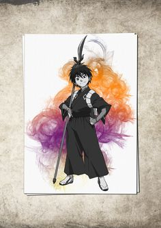 Kekkaishi Anime Manga Watercolor Print Poster Giclee 13'' x 19'' Super A3 No500 by masterofposter on Etsy