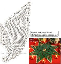 New crochet christmas star doily Ideas Christmas Crochet Patterns, Holiday Crochet, Crochet Doily Patterns, Crochet Mandala, Crochet Home, Filet Crochet, Crochet Doilies, Crochet Flowers, Christmas Star