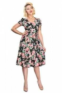 Collectif Nadine Flowers Dress