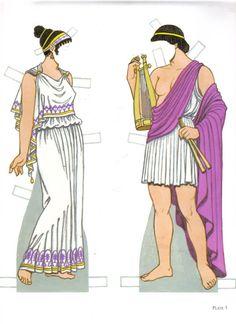 Ancient Greek Costumes - edprint2000paperdolls - Picasa Webalbum