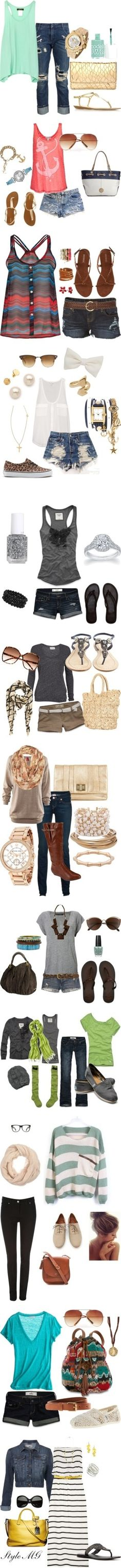 all these outfits.get in my closet now. Cute outfits for summer, great pieces for fall, spring, or winter too So many cute shoes especially sandals and flip flops Short shorts, tank tops Fashion Moda, Cute Fashion, Look Fashion, Womens Fashion, Fashion Styles, High Fashion, Fashion Teens, Fashion 2014, Luxury Fashion