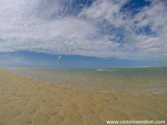 Parajuru lagoon. Cool spot in Brazil, south of Fortaleza #kitesurfing #kiteboarding #travel #brazil - ActionTripGuru.com