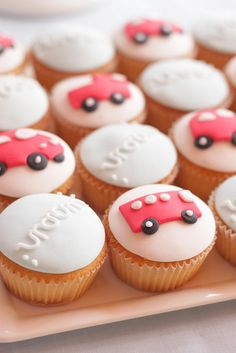 car cupcakes by hello naomi, via Flickr