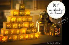 Un calendrier de l'Avent DIY à fabriquer soi même et qui brille !