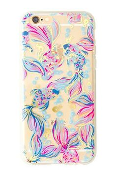 Your iPhone is your best accessory. Dress it up with this foil printed, clear plastic Lilly Pulitzer iPhone 6/6s Cover in Going Costal. - Foil Printed iPhone 6 Cover. - Fits iPhone 6/6S.